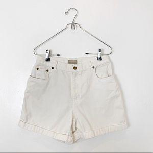 Vintage White Denim High Rise Shorts